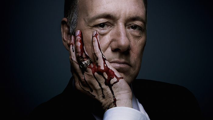 Icône anti-Bisounours : Franck Underwood de House of Cards.