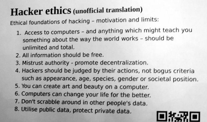 Les principes de l'éthique hacker qui a baigné la naissance d'Internet et de l'informatique